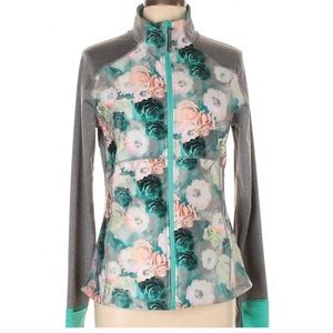 Floral ladies green and grey jacket size S